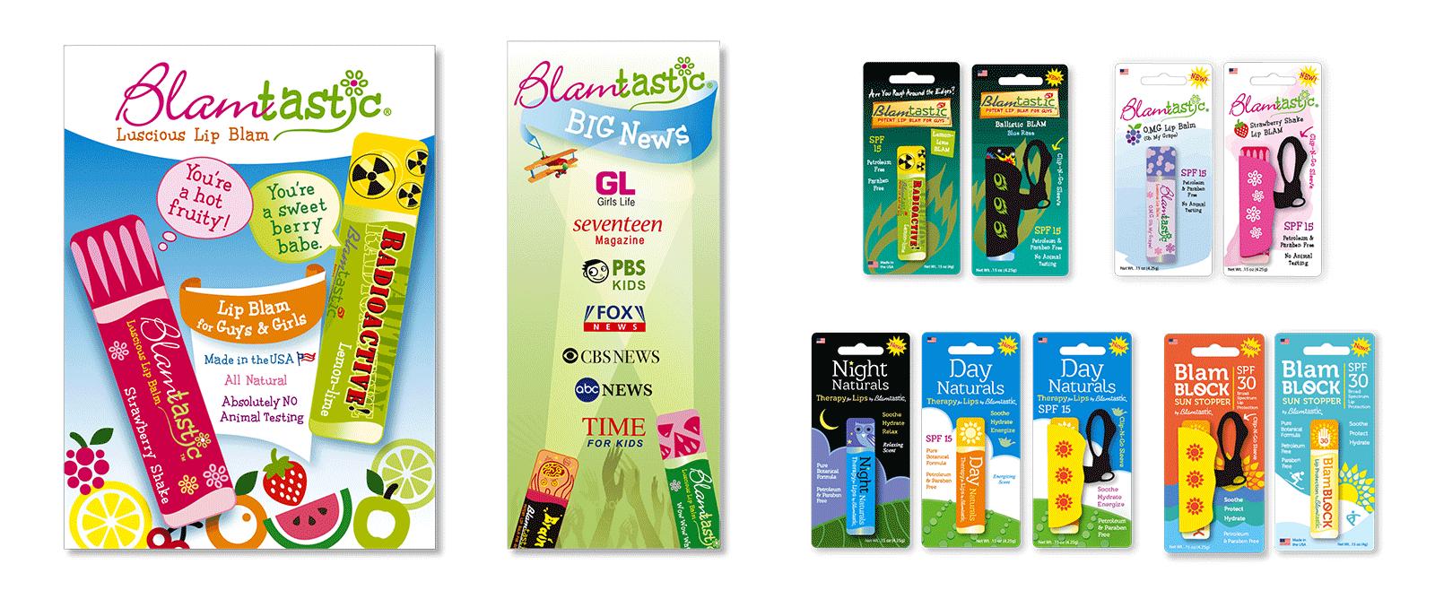 Brand design for Blamtastic Lip Balm